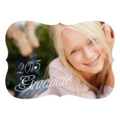 2015 Grad Girly Photo Graduation Party Invitation Card