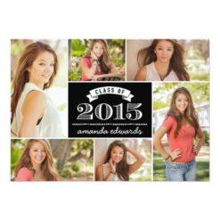 2015 Photo Collage Graduation Invitation Card