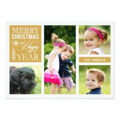 4 Photo | Holiday Photo Card Invitation Card