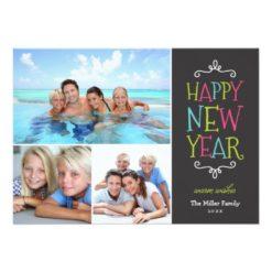 Happy New Year Whimsical Holiday Photo Card Invitation Card
