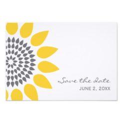 Elegant Sunflower Save The Date Paper Invitation Card