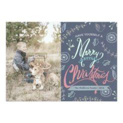 A Merry Little Christmas Holiday Photo Card Invitation Card