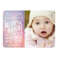 Airy And Light Holiday Photo Card Invitation Card