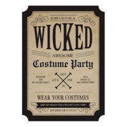 Apothecary Halloween Party Invitation Card