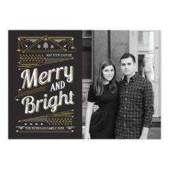 Art Deco Holiday Photo Card Invitation Card