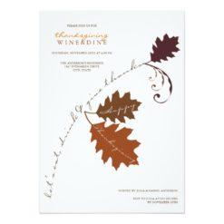 Autumn Branch Thanksgiving Dinner Party Invitation Card