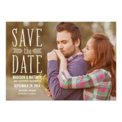 Aztec Overlay 2 | Save The Date Announcement Invitation Card