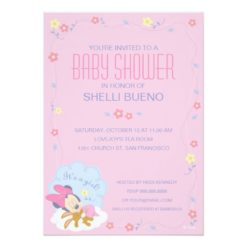Baby Minnie Mouse Baby Shower Invitation Card