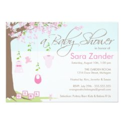 Baby Shower Invitation - Baby Clothes Invitation Card