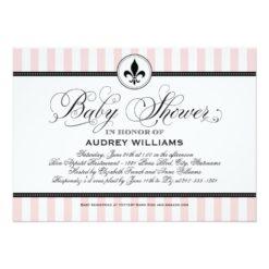 Baby Shower Invitation | Paris France Theme Invitation Card