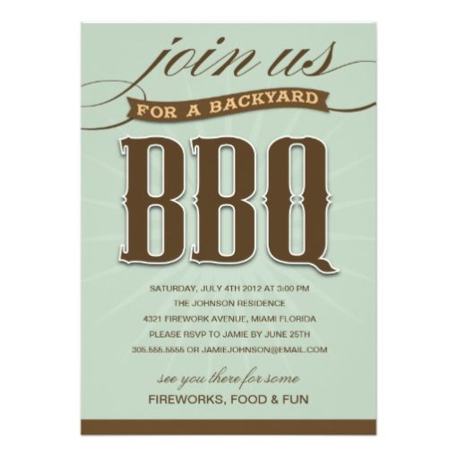 Backyard Bbq | Party Invitation Card
