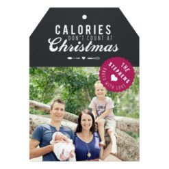 Baked Gift Christmas Photo Card Gift Tag Invitation Card