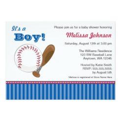 Baseball Boy Baby Shower Invitation Card