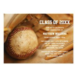 Baseball Graduation Announcement Invitation Card