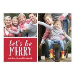 Be Merry | Holiday Photo Card Invitation Card