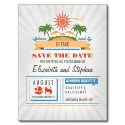 Beach Wedding Save The Date Postcards
