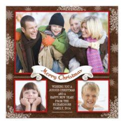 Beautiful Winter Holidays Greetings Photo Cards Square Invitation Card
