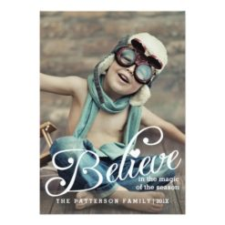 Believe | The Magic Of Christmas Photo Card Invitation Card
