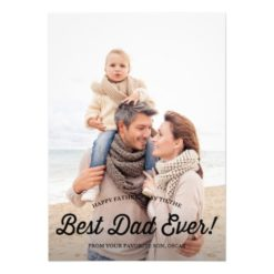 Best Dad   Retro Calligraphy Father'S Day Card