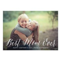 Best Mom Ever Script | Mother'S Day Card Invitation Card