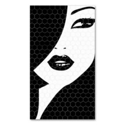 Black & White Patterned Girl Business Card Pack Of Standard Business Cards