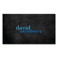 Black Wood Blue Typography Business Card Pack Of Standard Business Cards