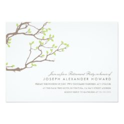 Blissful Branches Retirement Party Invitation Card