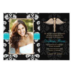 Blue Nurse Graduation Announcements Invitation Card