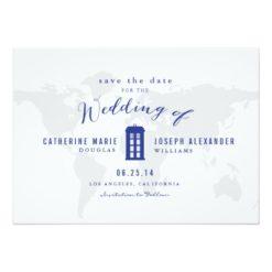 Blue Police Box Save The Date Invitation Card