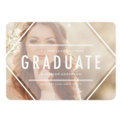 Bohemian Triangle | Photo Graduation Announcement Invitation Card