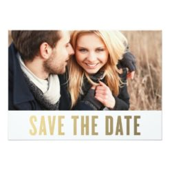Bold Bar | Save The Date Announcement Invitation Card