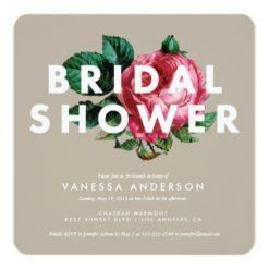 Bold Botanical | Bridal Shower Invitation Square Invitation Card