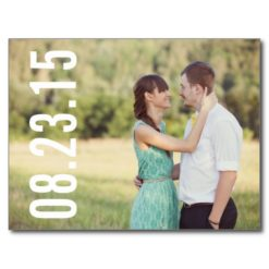 Bold Typography   Photo Save The Date Postcard