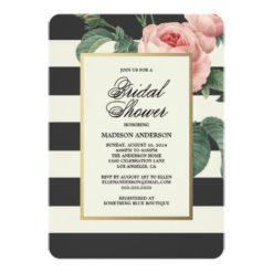 Botanical Glamour | Bridal Shower Invitation Card