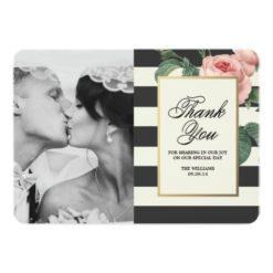 Botanical Glamour | Thank You Photo Card Invitation Card