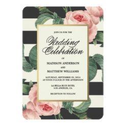 Botanical Glamour | Wedding Invitation Card
