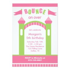 Bounce House Party Invitation Card