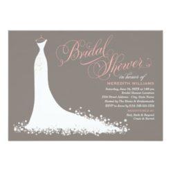 Bridal Shower Invitation | Elegant Wedding Gown Invitation Card