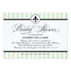 Bridal Shower Invitation | Mint Paris France Theme Invitation Card