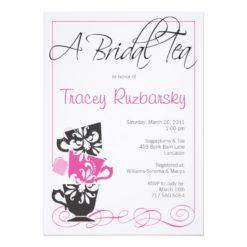 Bridal Shower Invitation - Tea Invitation Card