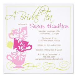 Bridal Shower Invitation - Tea Square Invitation Card