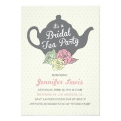 Bridal Tea Party Invitation Card