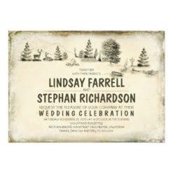 Campground Illustration Camping Wedding Invitation Card