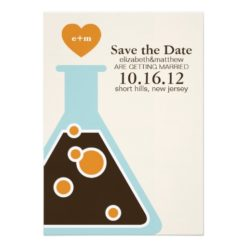 Can'T Fight Chemistry Wedding Save The Date Invitation Card