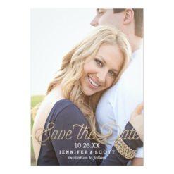Casual Elegance Script | Wedding Save The Date Invitation Card