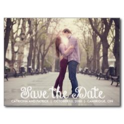 Chalkboard Save The Date Announcement Postcard
