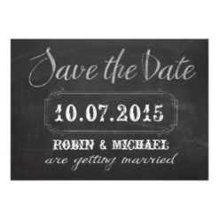 Chalkboard Save The Date Invitation Card