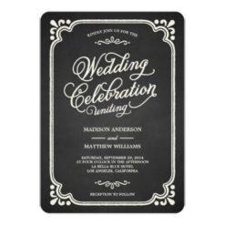 Chalkboard Union | Wedding Invitation Card