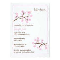 Cherry Blossom Baby Shower Invitation Card