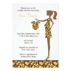 Chic Leopard Print Baby Shower Invitation Card